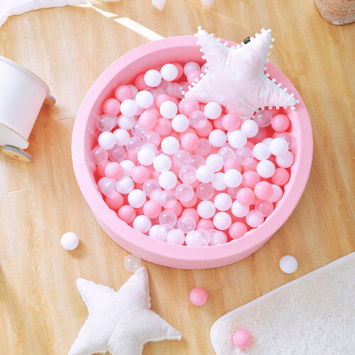Foam Ball Pit Soft Round Ball Pool 90x30cm for Toddler Kids w/ 200 Balls