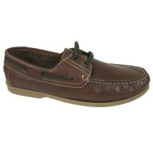 Yachtsman Mens Traditional Real Leather Boat Deck Shoes