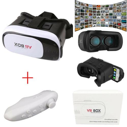 3D Virtual Reality VR BOX V2.0 Glasses Headset + Bluetooth Remote