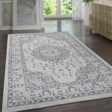 Modern Oriental Cotton Rug Grey Small Extra Large Flat Weave Washable Carpet Loving Room Area Mat