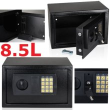 8.5L SECURE DIGITAL SAFE KEY ELECTRONIC OFFICE HOME MONEY SAFETY BOX