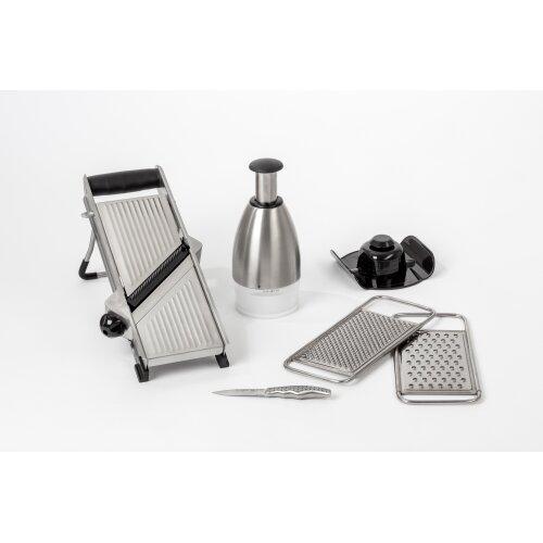 6-Piece Pro-Series Stainless Steel Mandoline Slicer Set