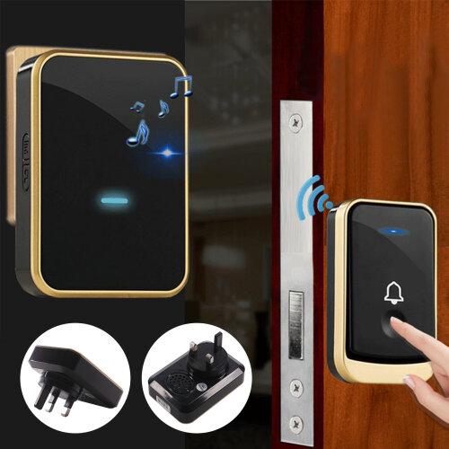 Waterproof 300m Wireless Doorbell Wall Plug-in Cordless Door Chime