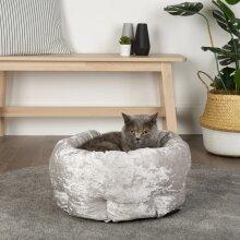 Scruffs Pet Bed Velvet Silver Small Animals Pet Supply Dog Cat Nest Puppy Mat