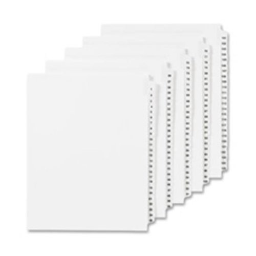 Numeric Divider, 40, Side Tab, 11 in. x 8.5 in., 25-PK, White