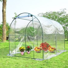 Outsunny Steel Dome Greenhouse | Transparent Garden Polytunnel