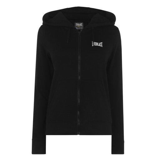Everlast Womens Zip Interlock Hoodie Lined Hood Elasticated Trim Casual Top