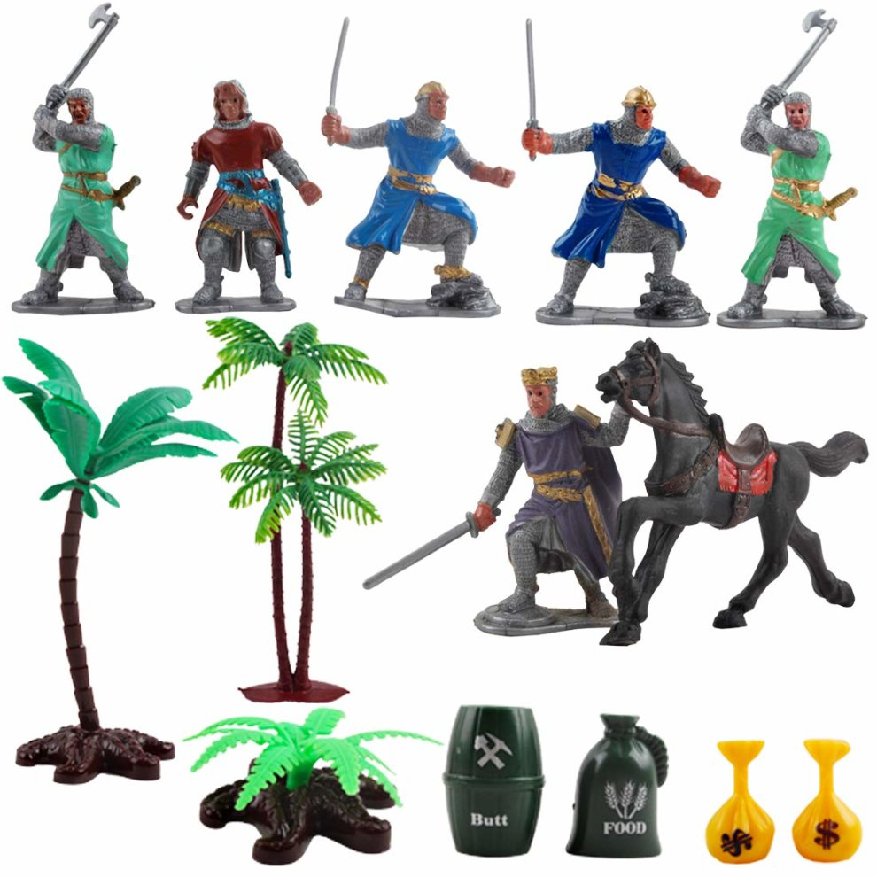 Medieval Castle Toy Knights Game Catapult Soldiers Infantry FiguresAccessory
