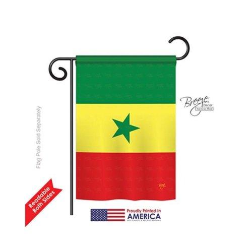 Breeze Decor 58309 Senegal 2-Sided Impression Garden Flag - 13 x 18.5 in.