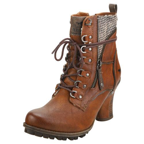 Mustang Side Zip Heel Womens Ankle Boots