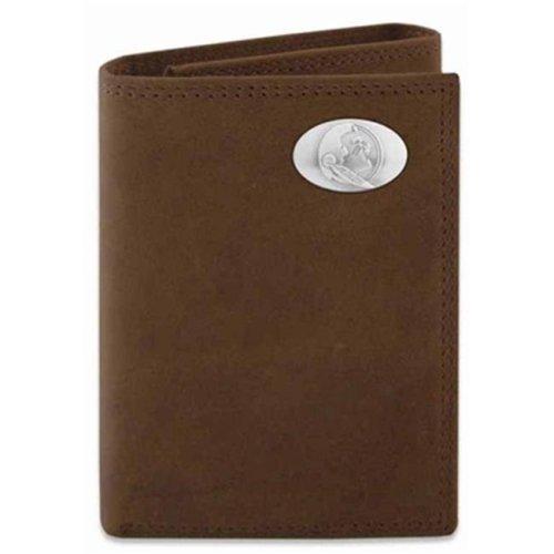 FSU Trifold Crazyhorse Leather Wallet