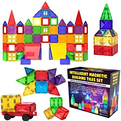 Desire Deluxe Magnetic Building Blocks Tiles STEM Toy Set 57PC – Kids Learning Educational Construction Toys for Boys Girls Present Age 3 4 5 6 7 Ye