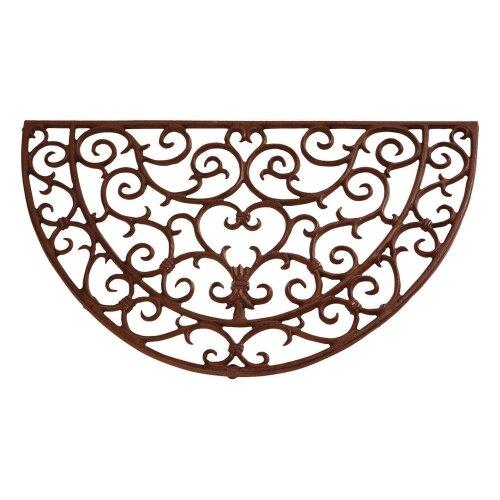 Scrolled - Half Round Cast Iron Doormat