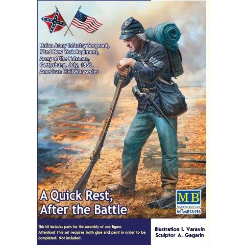 MAS35196 - Masterbox 1:35 - A Quick Rest Union Army Sergeant, ACW