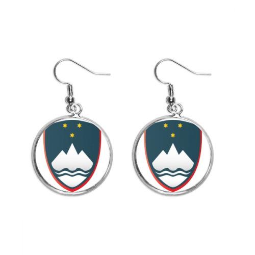 Slovenia National Emblem Country Ear Dangle Silver Drop Earring Jewelry Woman