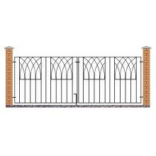 Abbey Modern Metal Driveway Garden Gates