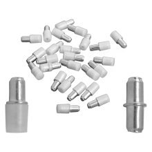 5mm Shelf Supports, Steel Plug in Pegs with Plastic Covers for Glass