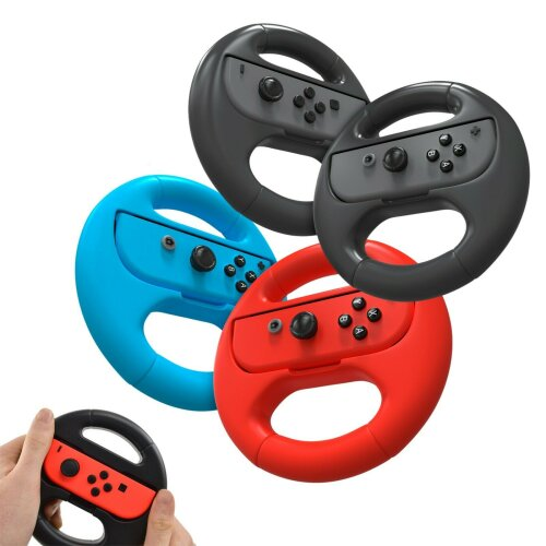 2-Pack Racing Steering Wheels for Nintendo Switch Joy Con