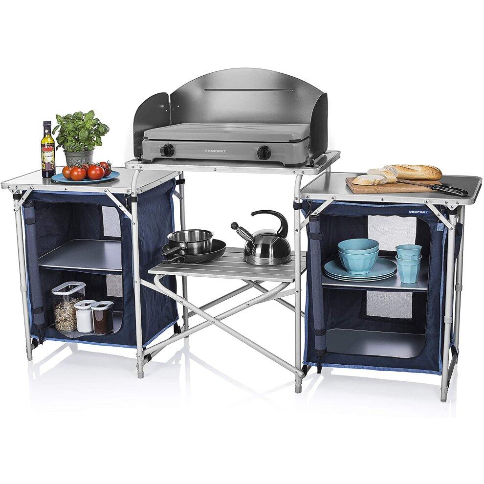 Campart Travel KI-0732 Camping Kitchen Malaga, 172 x 48 x 79.5/110.5cm