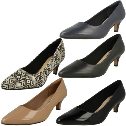 Ladies Clarks Pointed Toe Court Shoes Linvale Jerica - E Fit