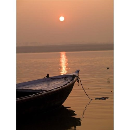 Boat in The Water Varanasi India Poster Print by Keith Levit, 13 x 18