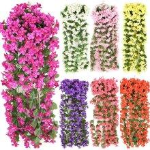 Artificial Fake Hanging Flowers Vine Plant Home Garden Decoration Indoor Outdoor