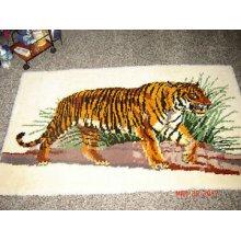 "Latch Hook Rug Kit""Hunting Tiger"" 110x70cm"
