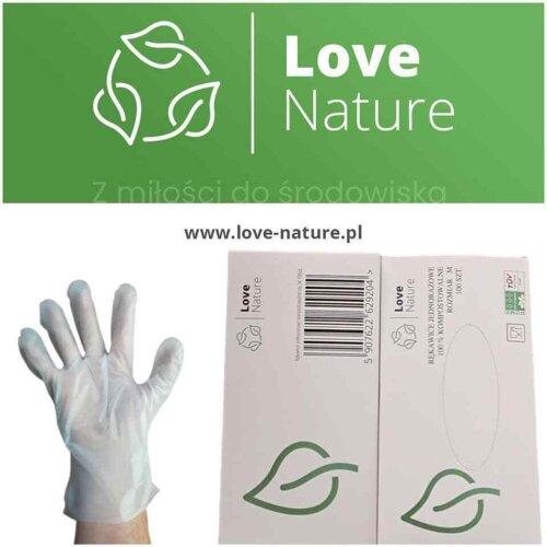 Biodegradable, compostable, disposable Gloves PLA
