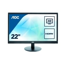 AOC E2270SWHN 22In Widescreen LED Monitor -HDMI VGA