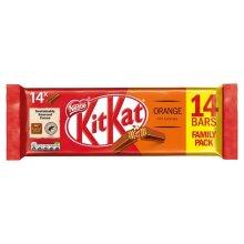 KitKat 2 Finger Orange Chocolate 14 Bars Family Pack New