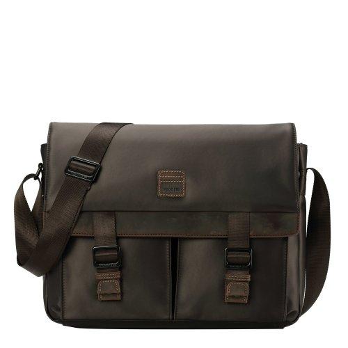 TRP0526 Troop London Heritage Nylon Large Messenger Bag, Laptop Satchel