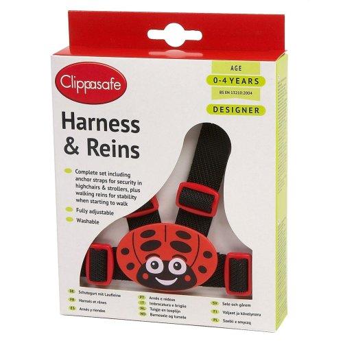 Clippasafe Designer Ladybird Harness & Reins