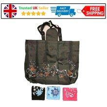 Waterproof Folding Shopping Travel Bag Shoulder Bag Spring Women Ladies Outdoor