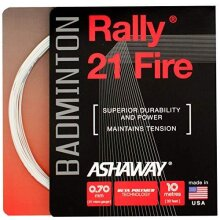 ASHAWAY Rally 21 Fire Badminton String Set, Color- White