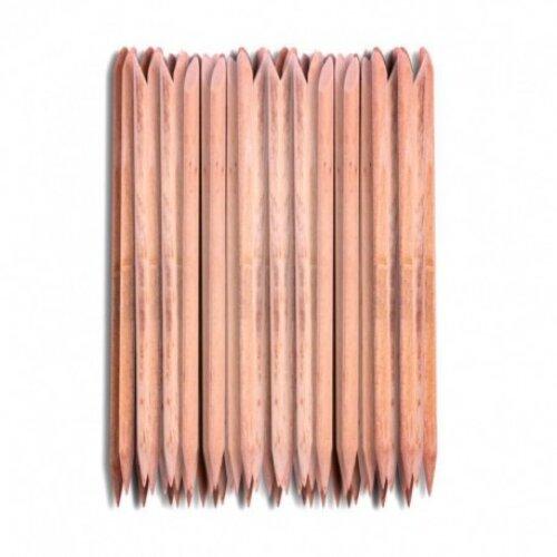 Pusher Remover 100Pcs Nail Art Orange Wood Stick Cuticle Pedicure Manicure Tool 7.4CM for Women Beauty  ar12 Levet dropship