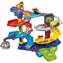 VTech Toot-Toot Drivers Twist & Race Tower, Racing Cars Car Tracks for Kids Lights and Sounds, Musical Toy Race Track for  Aged 12 Months to 5 Years