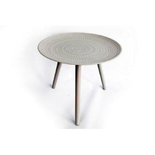 Wooden Grey Table Round 49x42cm Stylish strong