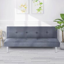 Modern Light Grey 3-Seater Sofa Bed