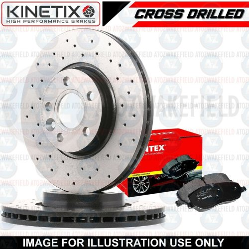 FOR MINI COUNTRYMAN R60 FRONT CROSS DRILLED BRAKE DISCS MINTEX PADS 294mm