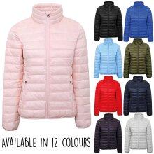 2786 Womens Corporate Workwear Walking Hiking Terrain Padded Zip Up Jacket Coat