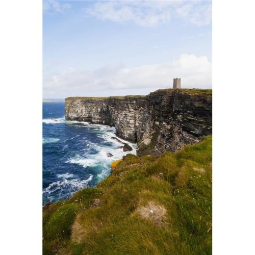 Marwick Head Rspb Nature Reserve Kitcheners Monument - Orkney Scotland Poster Print - 24 x 38 in. - Large