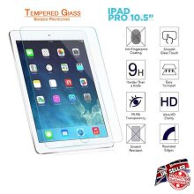 Ultra Clear 9H Anti Fingerprint Scratch Resistant HD Tempered Glass Screen Protector for Apple iPad Pro 10.5 inch (2017)
