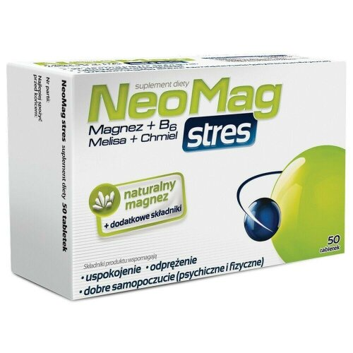 NeoMag Stress 50 tab Magnesium Vit B6 Stres Magnez Wit B6 Melisa Chmiel OLIMP