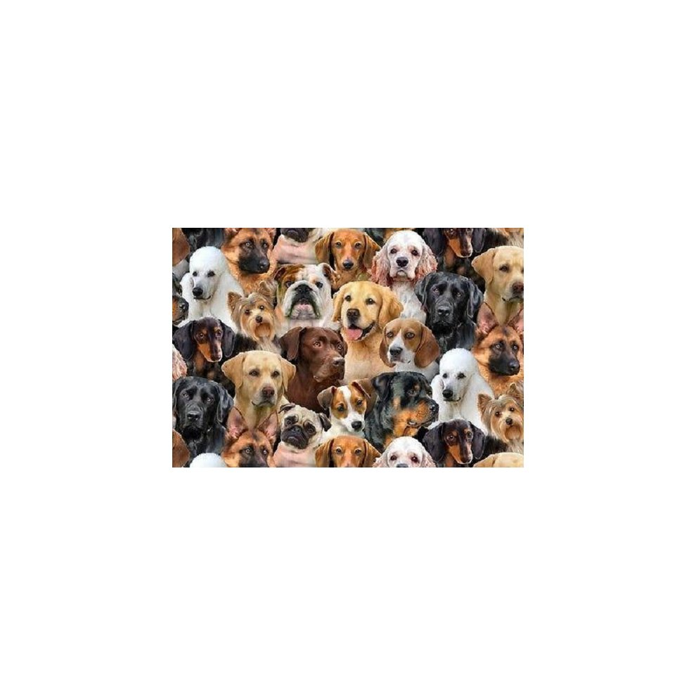 Fat Quarter Dog Breeds Dogs Cotton Quilting Fabric Elizabeth/'s Studio 1312 Black