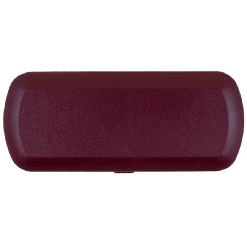 Hard Glasses Case Plus Repair Kit & Cloth in Dark Red