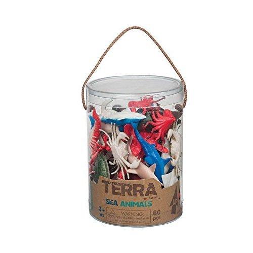Battat Terra AN6002Z Sea Animals Toy in a Tube (60-Piece)