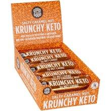 Krunchy Keto Bar (15x35g) - High Fibre Low Carb All Natural No Sugar Added - Salty Caramel Nut
