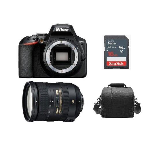 NIKON D3500 Black + AF-S 18-200MM F3.5-5.6G ED VR II DX + Bag + 16gb