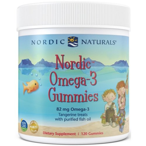 Nordic Naturals  Nordic Omega-3 Gummies, Tangerine Treats , 82mg - 120 gummies