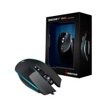 Biostar AM3 Racing Usb 7 Colour Led Black Gaming Mouse AM3